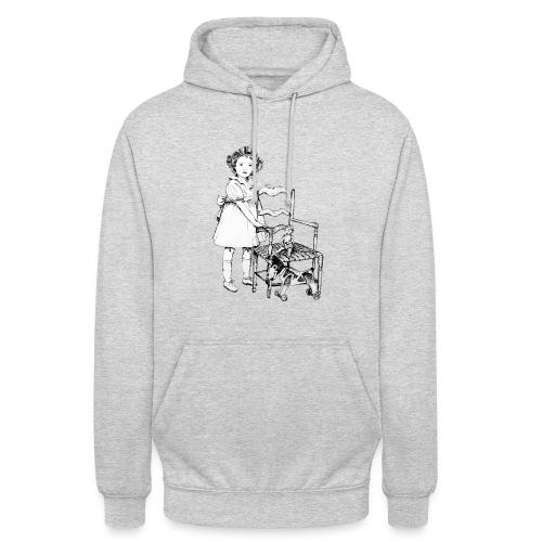 Nelly et sa chaise - Sweat-shirt à capuche unisexe