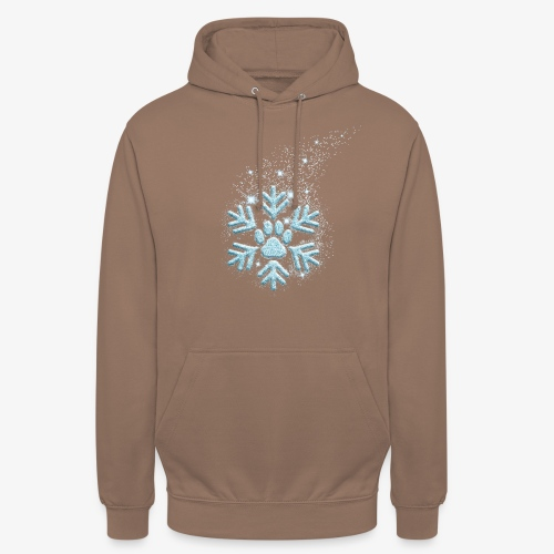 dog paw snowflake - Unisex Hoodie