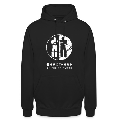 2 Brothers White text - Unisex Hoodie