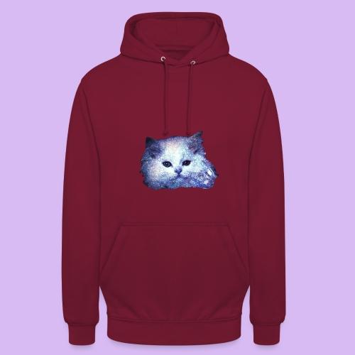 Gatto glitter - Felpa con cappuccio unisex