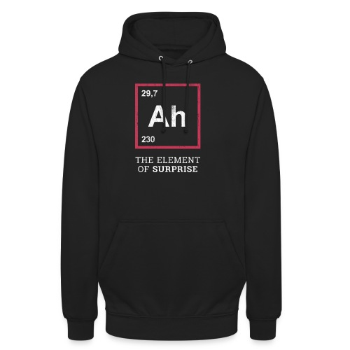 Ah the element of surprise – RED - Unisex Hoodie