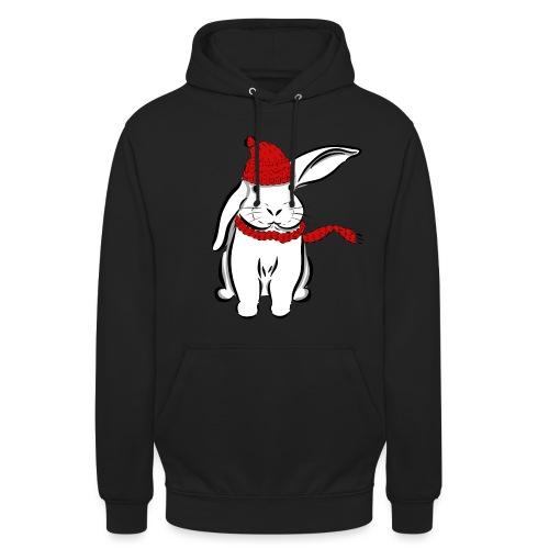 Kaninchen Hase Mütze Schal Schlappohr Schneehase - Unisex Hoodie