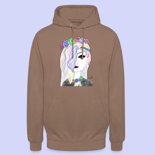 Rainbow flower girl - Female shirt - Hættetrøje unisex