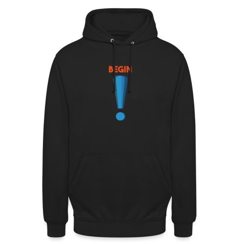 logo point exclamation - Sweat-shirt à capuche unisexe