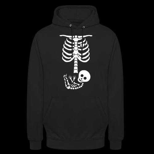 Baby Skelett US Version Maternity / Schwangerschaf - Unisex Hoodie