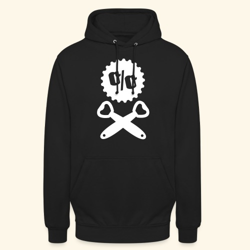 Bier T Shirt Design Piratenflagge - Unisex Hoodie