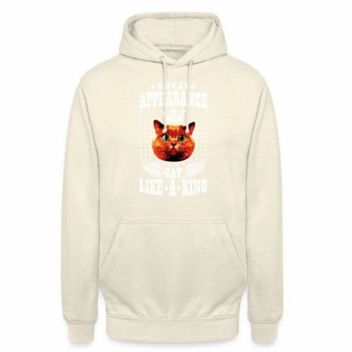 20 Royal Appearance Red Cat like a King Crown - Unisex Hoodie