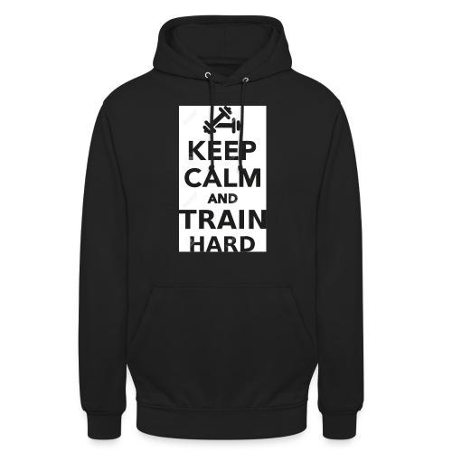 keep calm and train hard - Luvtröja unisex