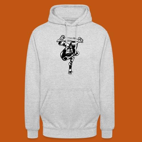 Skater / Skateboarder 03_schwarz weiß - Unisex Hoodie