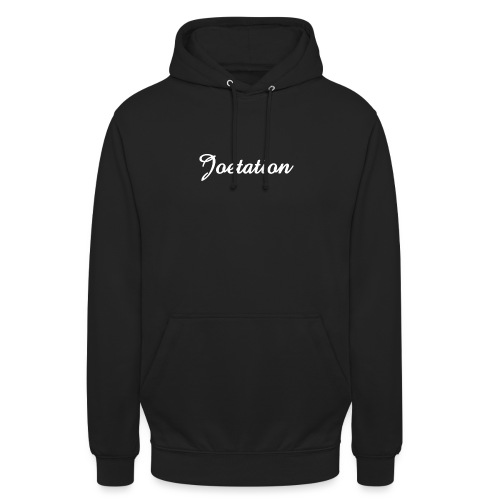 White Text Joetation Signature Brand - Unisex Hoodie