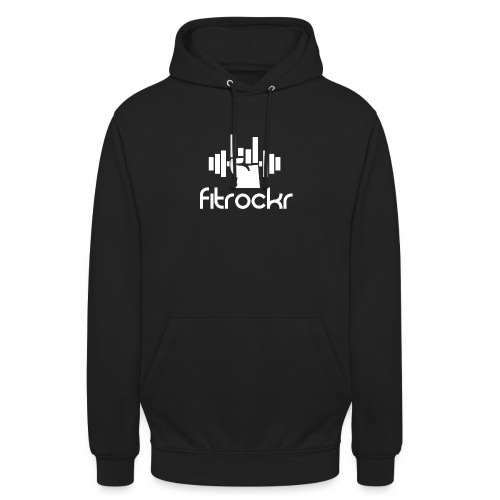Fitrockr Logo Weiß - Unisex Hoodie