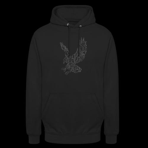Circuit eagle White - Hættetrøje unisex