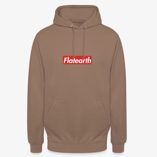 Red Flat Earth Box Logo - Unisex Hoodie