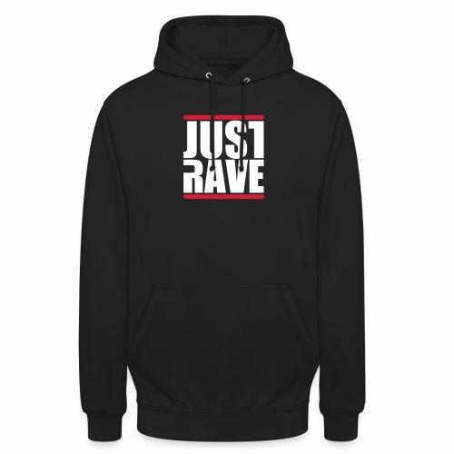 Just Rave Logo - Techno Festivals After Hour PLUR - Unisex Hoodie