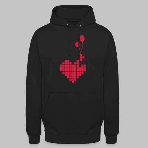 heart and balloons - Unisex Hoodie