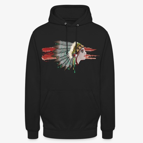 Native american - Sweat-shirt à capuche unisexe