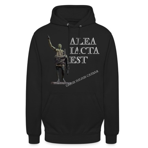 Cesare alea iacta est - Felpa con cappuccio unisex