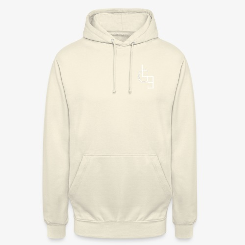 logo blanc png - Sweat-shirt à capuche unisexe