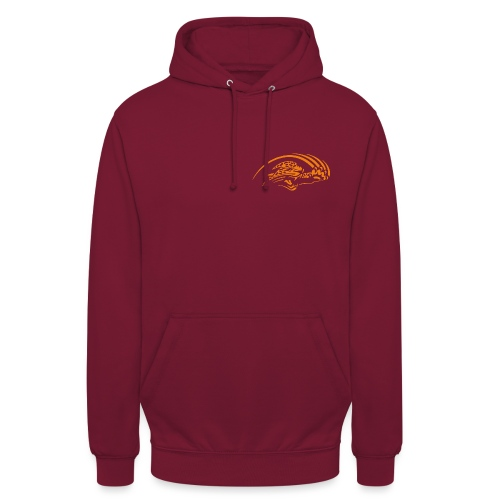 logo orange nu - Sweat-shirt à capuche unisexe