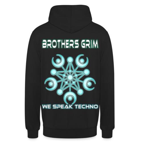 we speak techno png - Unisex Hoodie