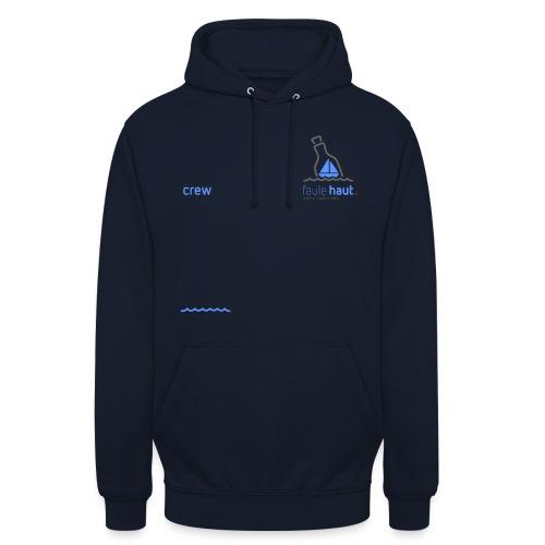 Crew logo Blue dark Grey - Unisex Hoodie