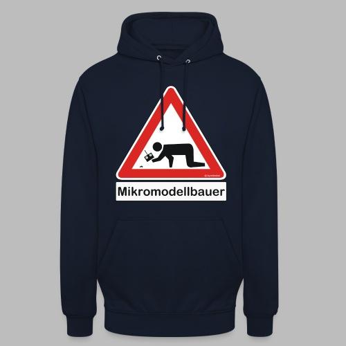 Warnschild Mikromodellbauer Auto - Unisex Hoodie
