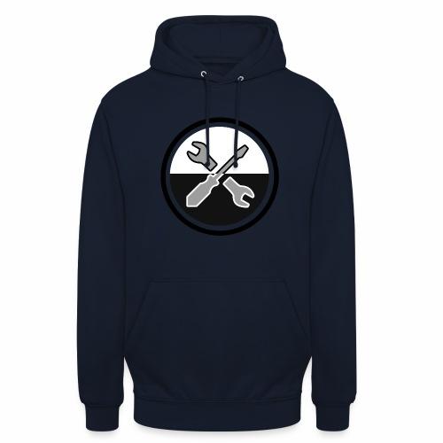 noir & gris - Sweat-shirt à capuche unisexe