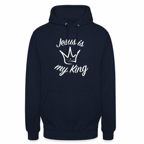 Jésus est mon roi - Sweat-shirt à capuche unisexe