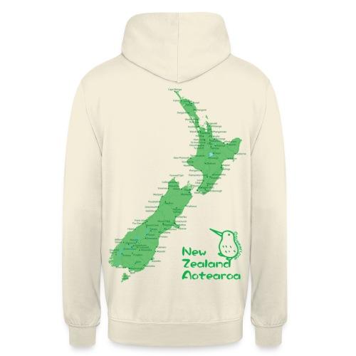 New Zealand's Map - Unisex Hoodie