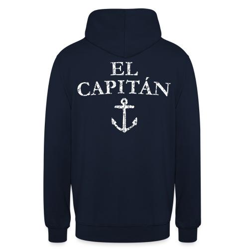 El Capitan Anker (Vintage Weiß) Kapitän Käpt'n - Unisex Hoodie