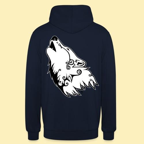 Le Loup de Neved (version contour blanc) - Sweat-shirt à capuche unisexe
