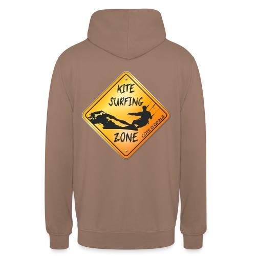 KITESURFING ZONE CÔTE D'OPALE - Sweat-shirt à capuche unisexe