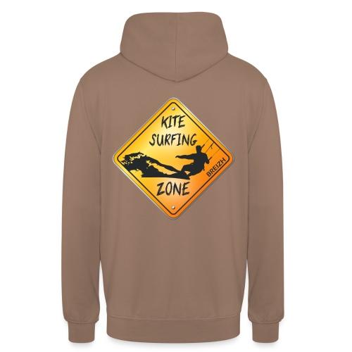KITESURFING ZONE BREIZH - Sweat-shirt à capuche unisexe