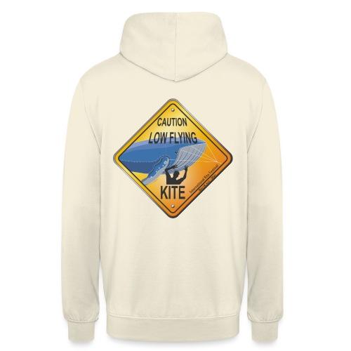 Roadsign Attention cerf-volant à basse altitude - Sweat-shirt à capuche unisexe