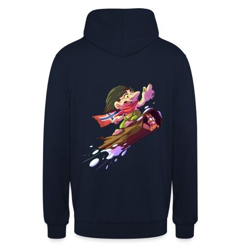 Troll snowboarder - Sweat-shirt à capuche unisexe