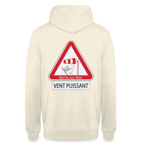 Berck-sur-mer: Vent puissant II - Sweat-shirt à capuche unisexe