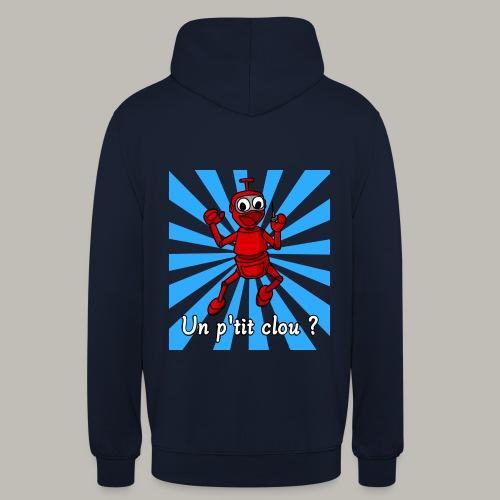 Back to 80's blue - Sweat-shirt à capuche unisexe