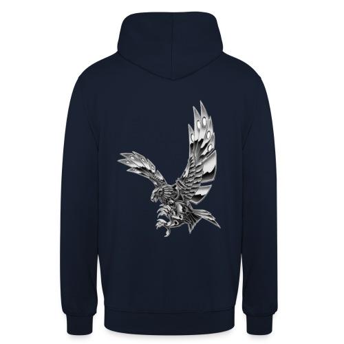 Metallic Eagle - Felpa con cappuccio unisex