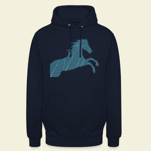 Cheval feuille - Sweat-shirt à capuche unisexe