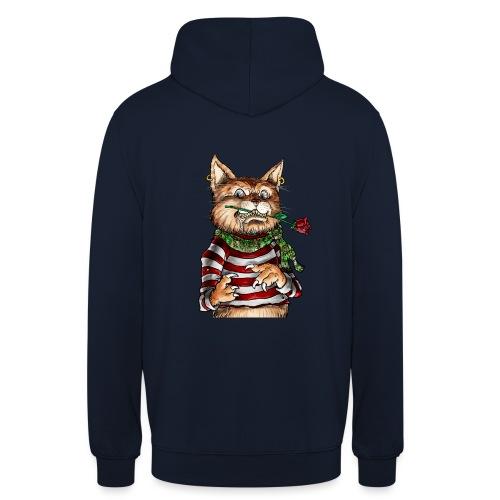 T-shirt - Crazy Cat - Sweat-shirt à capuche unisexe
