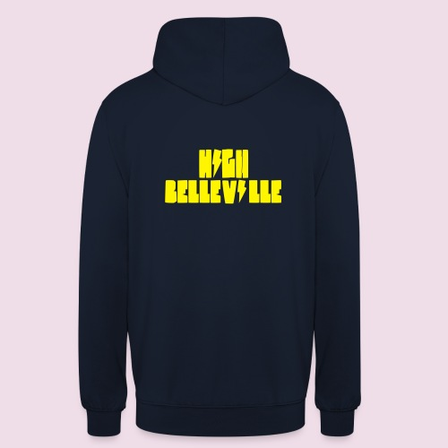 HIGH BELLEVILLE - Sweat-shirt à capuche unisexe