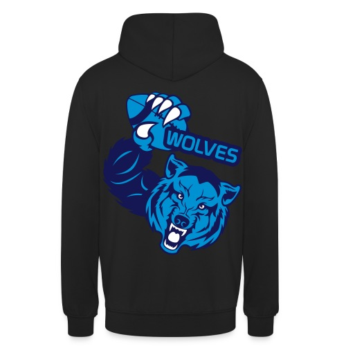 Wolves Rugby - Sweat-shirt à capuche unisexe
