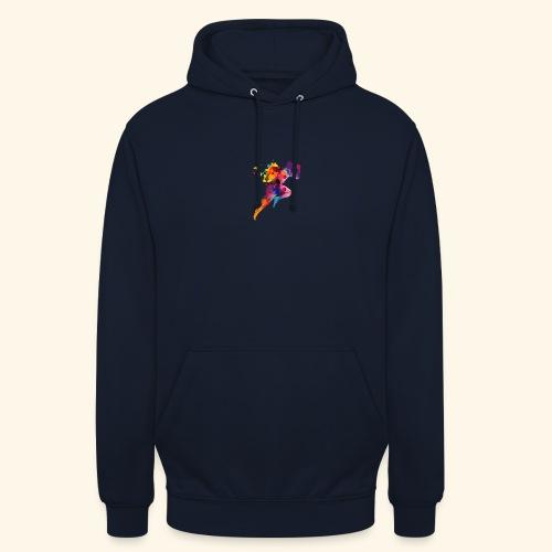 Running colores - Sudadera con capucha unisex