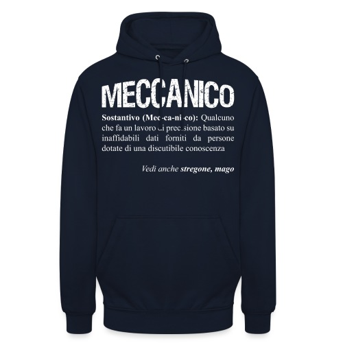 Meccanico = Mago? - Felpa con cappuccio unisex