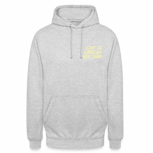 Give Us Lesbian Rom Coms - yellow - Unisex Hoodie
