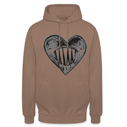 Corazón Negro - Sudadera con capucha unisex