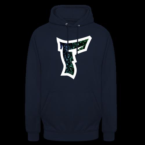 Rauch in Farben mit F Logo in Weiß - Unisex Hoodie