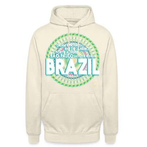 Lemon Brazil Mandala - Sweat-shirt à capuche unisexe