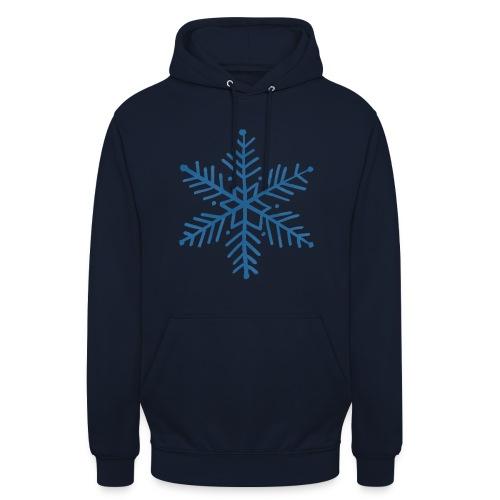 flocon de neige bleu - Sweat-shirt à capuche unisexe
