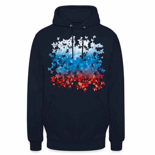 06 Russland Flagge Fahne Russia Schmetterlinge - Unisex Hoodie